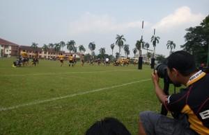 Aksi pertama Kejohanan Liga Super Kesatuan Ragbi Malaysia 2015 di antara pasukan COBRA menentang pasukan Mersing Eagles yang telah berlansung di padang A Universiti Putra Malaysia, Serdang.