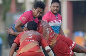 Pertemuan sengit di antara Keris Conlay menentang Kelab Sukan Dewan Bandaraya Kuala Lumpur(KSDBKL) dalam perlawanan peringkat Kumpulan B Kejohanan Liga Super Kesatuan Ragbi Malaysia 2015 yang telah berlangsung di padang A, Universiti Putra Malaysia, Serdang. Foto - Sukandaily