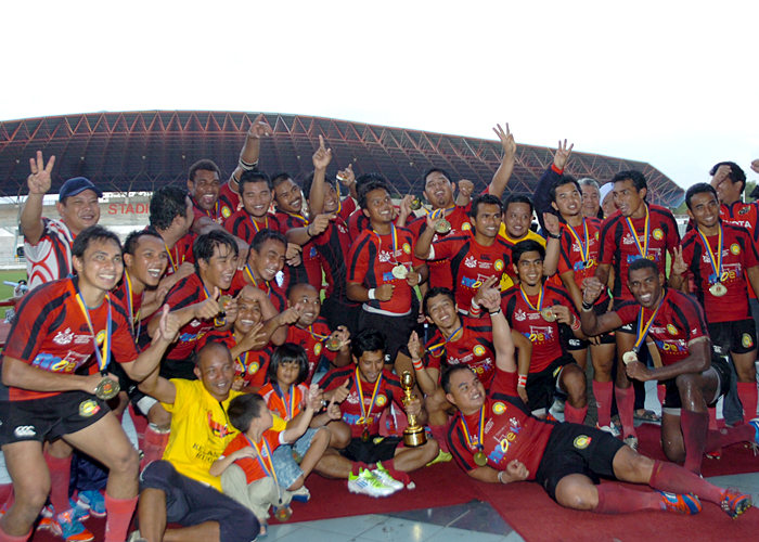 Sukandaily - Kelantan juara Kejohanan Ragbi Piala Agong 2012