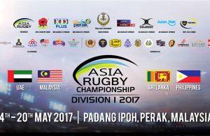 Kejohanan Ragbi Asia 2017 Divisyen 1 yang akan berlansung pada 14 hingga 20 Mei 2017 nanti