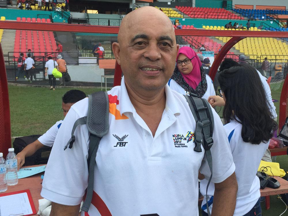 Wan Ibrahim Wan Chik selaku Pengurus Sukan Ragbi SEA Games KL2017