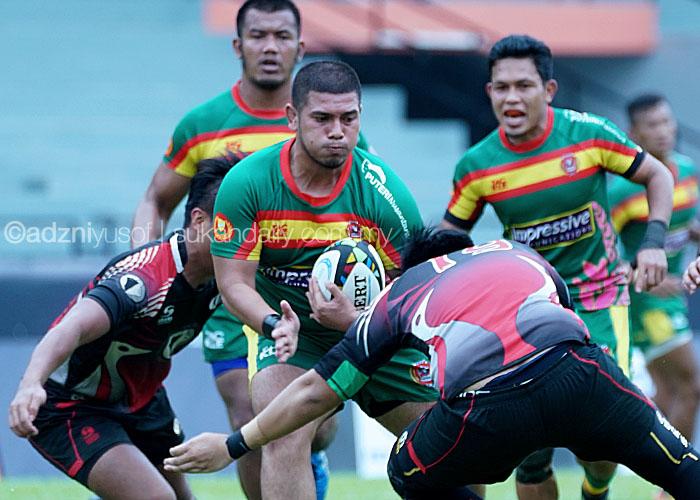 Aksi pemain kebangsaan yang membantu skuad Bunga Raya di pentas kejuaraan Ragbi Asia Divisyen 1 2017; Airul Mukminim Bin Amizan(tiga dari kiri) turut beraksi bersama Kedah di tempat ke-4 pada kejohanan ragbi Piala Agong 2017 setelah tewas tipis kepada Perak. Kredit Foto - Sukandaily